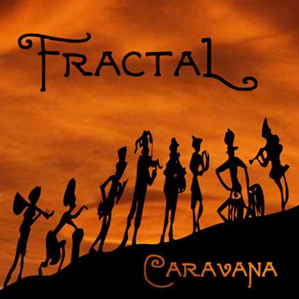 Portada del disco «Caravana» del grupo chileno Fractal