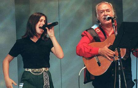 Soledad Pastorutti y César Isella en otros tiempos más mansos.