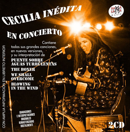 Portada del doble CD «Cecilia inédita en concierto» de Cecilia.
