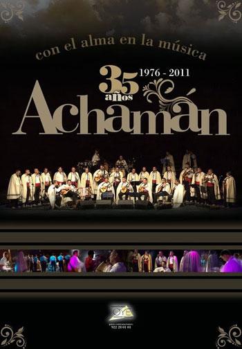 Cartel del 35 aniversario del grupo canario Achamán.