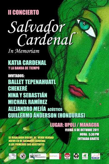 Cartel del II concierto Salvador Cardenal Barquero in memoriam