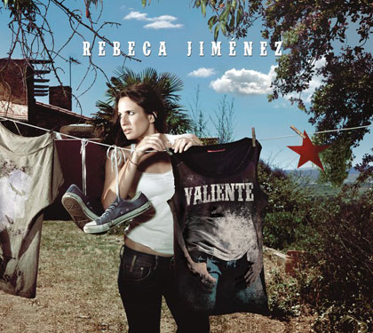 Portada del disco «Valiente» de Rebeca Jiménez.