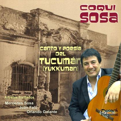 Portada del disco «Canto y poesía del Tucumán (Yukkuman)» de Coqui Sosa.