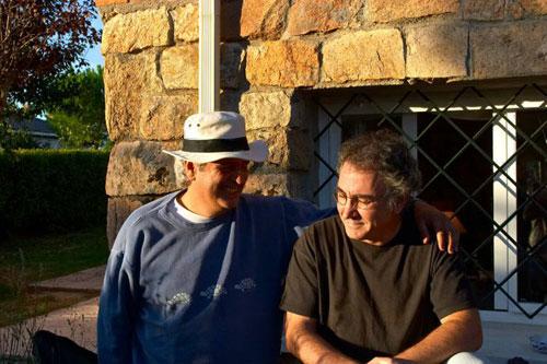Juan Antonio Muriel con Joaquín Lera, otro de los grandes, grandes.