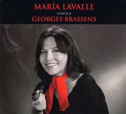 Portada del disco «María Lavalle canta a Georges Brassens» de María Lavalle
