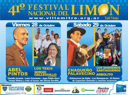Cartel del 41 Festival Nacional del Limón