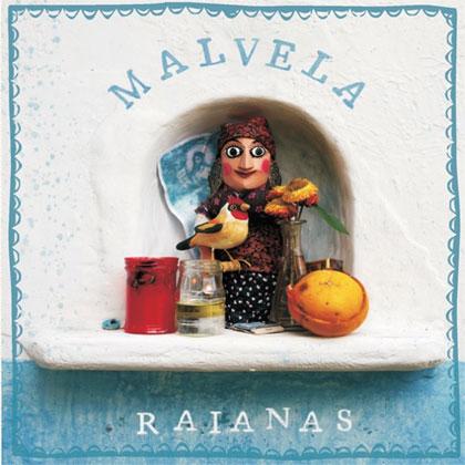 Portada del disco «Raianas» de Malvela