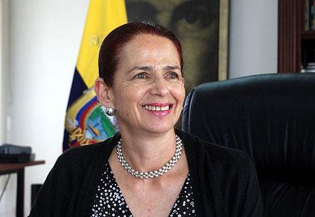 La ministra de Cultura ecuatoriana Erika Sylva. © Ministerio de Cultura de Ecuador