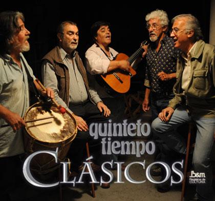 Portada del disco «Clásicos» del Quinteto Tiempo.
