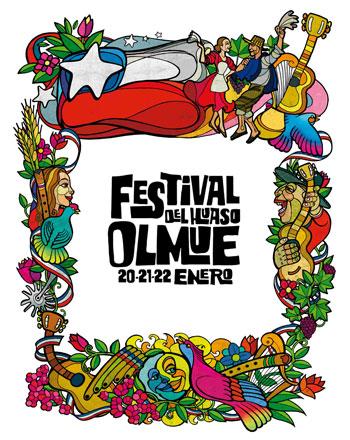 Cartel del XLIII Festival del Huaso de Olmué.