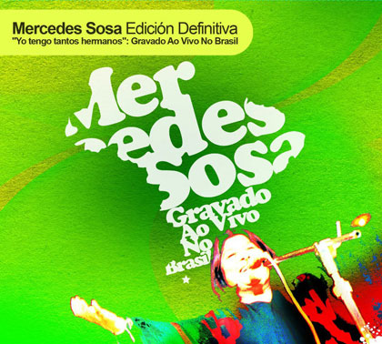 Portada del disco «Yo Tengo Tantos Hermanos: Gravado Ao Vivo No Brasil» de Mercedes Sosa.
