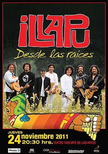 Cartel del espectáculo «Desde las raíces» de Illapu.