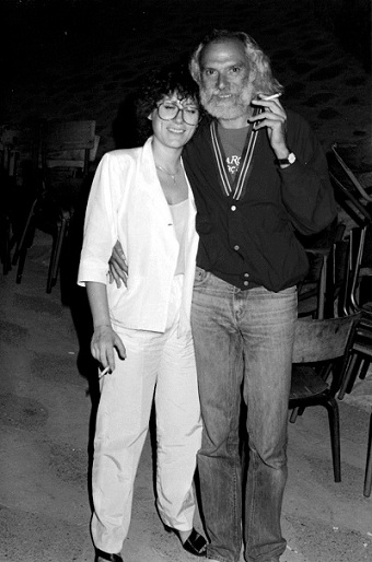 Marina Rossell y Georges Moustaki en Asilah - 1984 © Archivo Marina Rosell