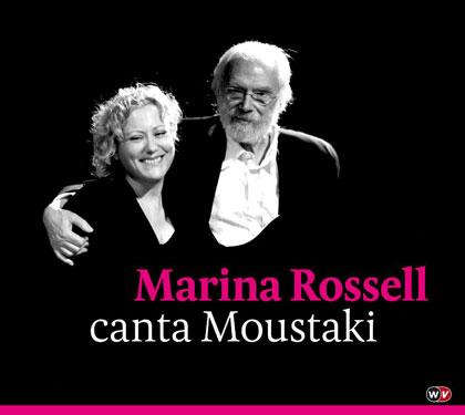 Portada del disco «Marina Rossell canta Moustaki» de Marina Rossell.