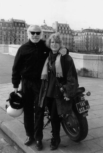 Marina Rossell y Georges Moustaki en París, 1993  © Archivo Marina Rossell