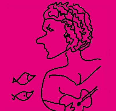 Dibujo de Georges Moustaki para el disco «Marina Rossell canta Moustaki».