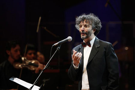 Fito Páez en la presentación de «Canciones para Aliens» en México.