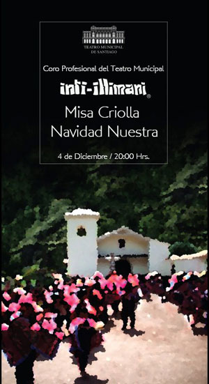 Cartel de la presentación de la «Misa Criolla» por Inti-Illimani.