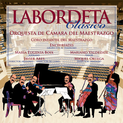 Portada del disco «Labordeta clásico» de la Orquesta de Cámara del Maestrazgo.
