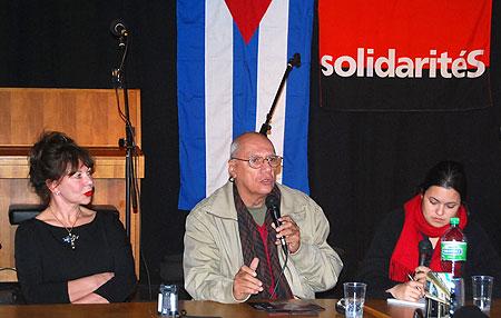 Silvia Mancini (izquierda) y Víctor Casaus.
