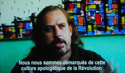 El trovador cubano Frank Delgado en un fotograma del documental «Cuba también» de Silvia Mancini.