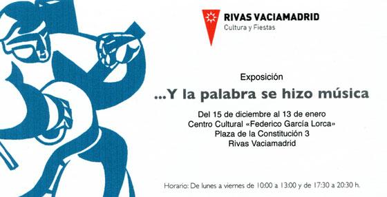 Invitación para la inauguración de la exposición «...Y la palabra se hizo música».
