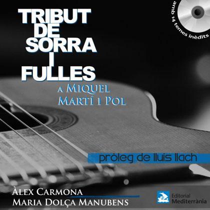 Portada del libro-disco «Tribut de sorra i fulles a Miquel Martí i Pol» de Àlex Carmona y María Dolça Manubens.