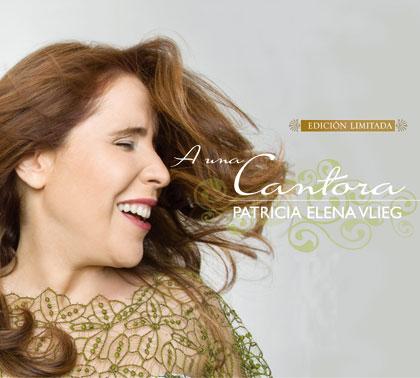Portada del disco «A una cantora» de Patricia Elena Vlieg.