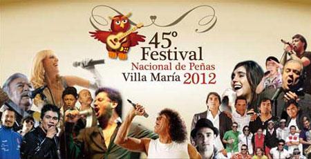Cartel del 45 Festival de Peñas de Villa María