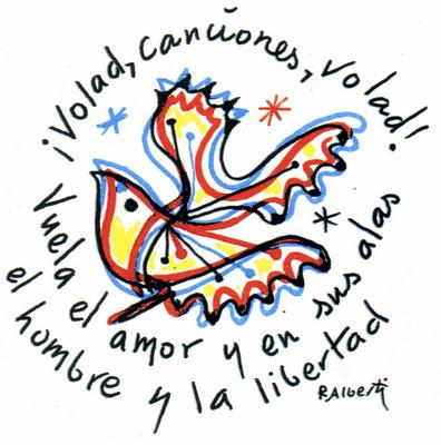 Dibujo del poeta gaditano Rafael Alberti para un libro de Fernando G. Lucini.