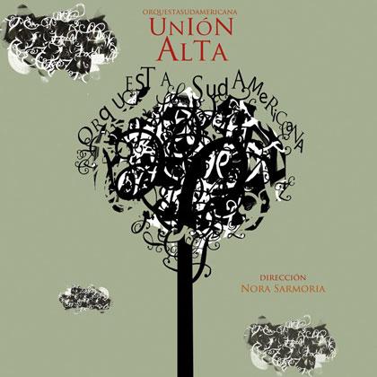 Portada del disco «Unión Alta» de la Orquesta Sudamericana.