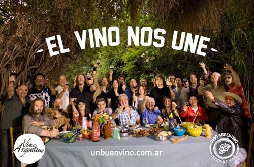 Fotografía de la campaña «El vino nos une».