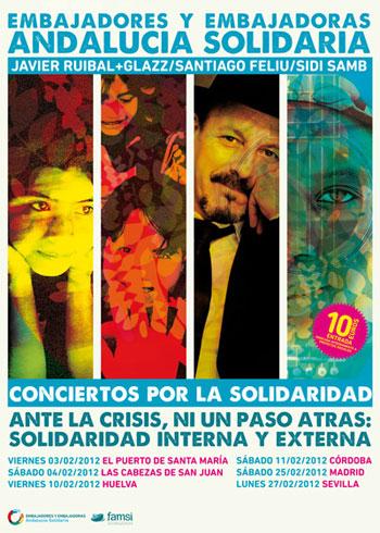 Cartel de la gira «Conciertos por la solidaridad».
