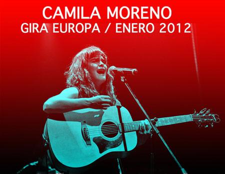 Cartel del «Camila Moreno Tour Europa 2012»
