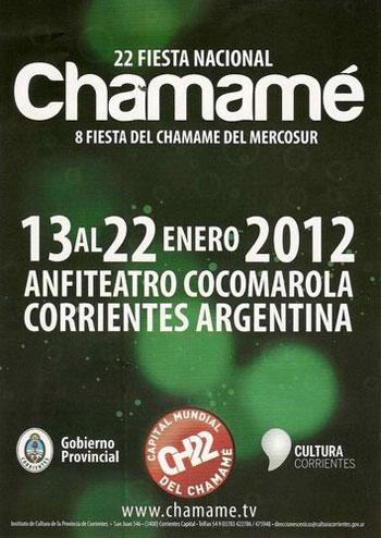 Cartel del XXII Fiesta Nacional del Chamamé.