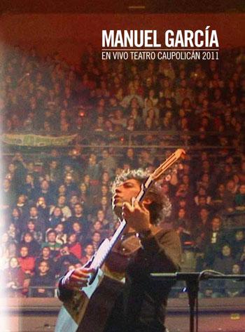 Portada del DVD «En Vivo Teatro Caupolicán 2011» de Manuel García.