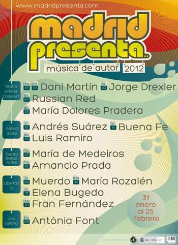 Cartel del festival «Madridpresenta 2012»