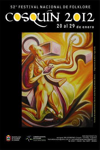 Cartel del 52 Festival de Cosquín 2012.