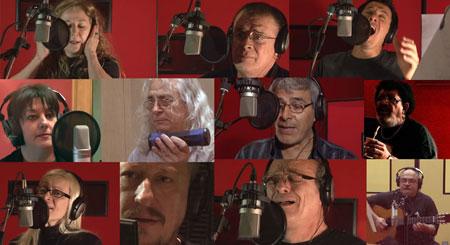 Algunos de los participantes del CD «Cancionero Malvinas»