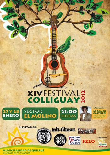 Cartel de la 14 edición del Festival de Colliguay.