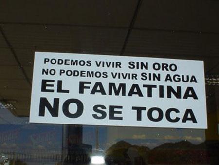 «El Famatina no se toca»