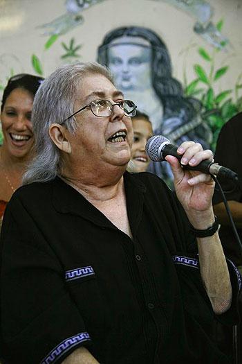 Sara González en su última aparición pública el pasado 26 de diciembre de 2011 en «El jardín de la gorda». © Roberto Chile