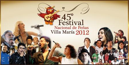 Cartel del 45 Festival Nacional de Peñas de Villa María 2012
