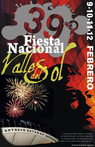 Cartel de la 39 Fiesta Nacional Valle del Sol 2012.