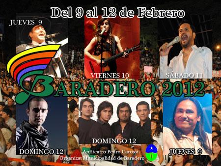 Cartel del 38 Festival de Baradero 2012.