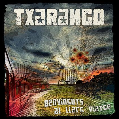 Portada del disco «Benvinguts al llarg viatge» de Txarango.