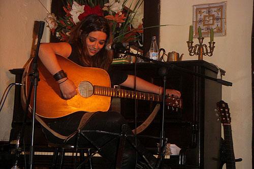Adriana Moragues en el Libertad 8 de Madrid.
