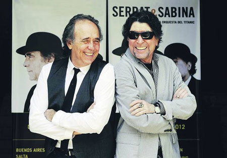 Joan Manuel Serrat y Joaquín Sabina en Argentina.