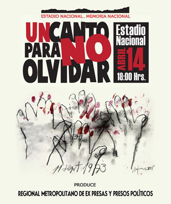Cartel del concierto «Un canto para no olvidar»