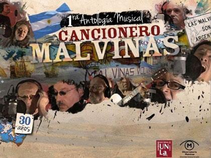 Portada del disco «Cancionero Malvinas».